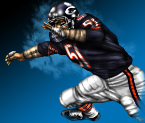 Chicago Bears Legendary Middle Linebacker